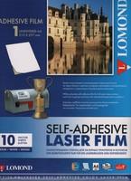 Пленка А4 10 листов 100 мкм Самокл. Белая для цветных лазерных принтеров, 1703461, Lomond