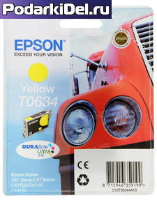 Картридж Epson T0634 жел.,ор.