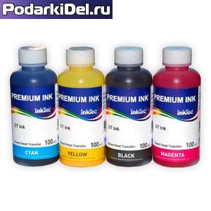 Комплект сублимационных чернил InkTec Epson DTI-100M BK/C/M/Y, 4*100мл
